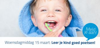 Gratis workshop 'Leer je kind goed poetsen'